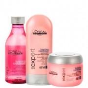 Kit Lumino Contrast Loréal Professionnel Shampoo 250ml ,Condicionador 150ml e Máscara 200g
