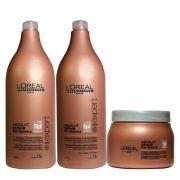 Kit Pós Química Loréal Professionnel Máscara 500g, Shampoo e Condicionador 1,5L