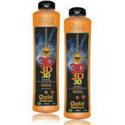 Kit Progressiva Gold Show Premium 3D - 2 Passos de 1 Litro