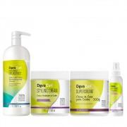 Shampoo Deva Curl Decadence 1000ml e Super e Styling 2x500g