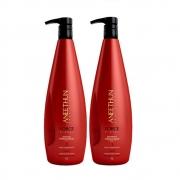 Shampoo e Máscara Fortalecedora Aneethun Force System 2x1000ml