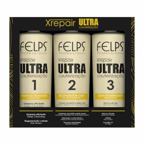 Kit Xrepair Ultra Cauterização Felps Profissional 3x250ml