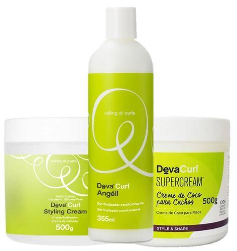 c5db42964 Kit Deva Curl Angell Styling Cream Super Cream 500g - Empório do  Cabeleireiro