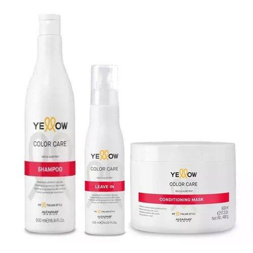 Yellow Color Care Sh 500ml Mask 500gr e Leave-in 125ml