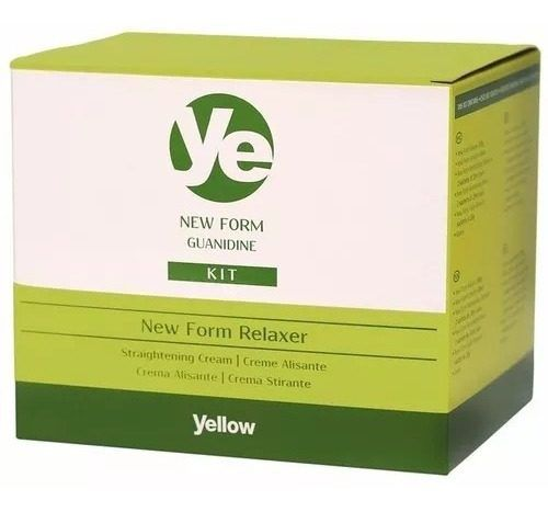 Kit Yellow New Form Relaxamento De Guanidina De 200gr