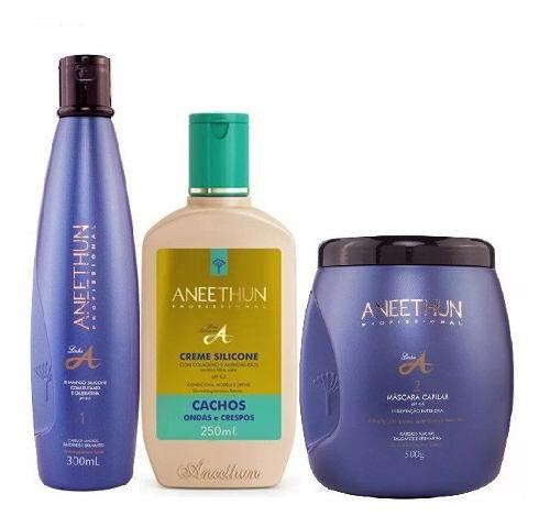Kit Aneethun Linha A Shampoo/creme De Cachos /máscara