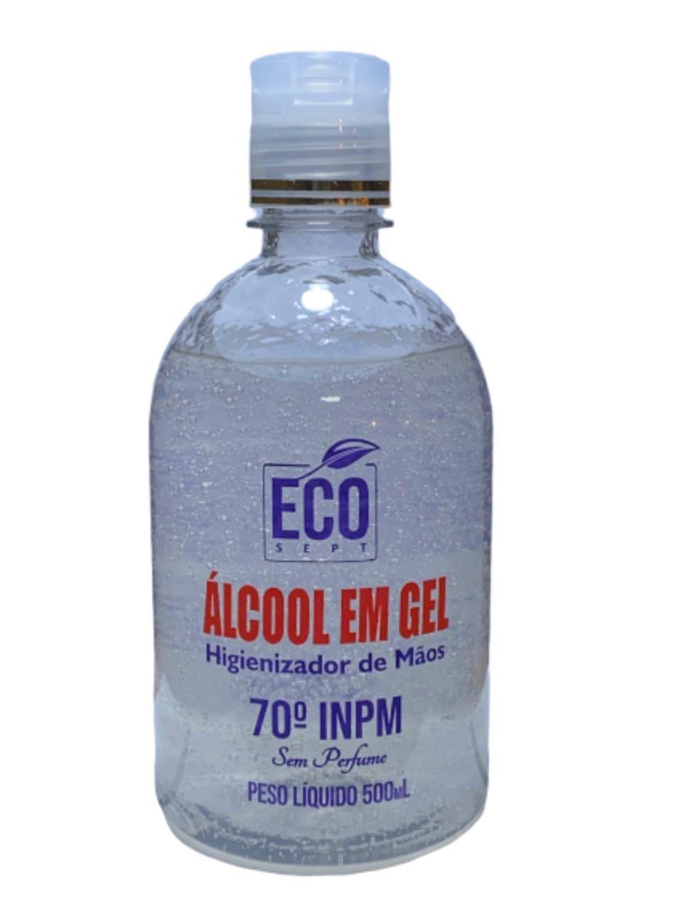 Álcool em Gel 70% Eco Sept Higienizador de Mãos 500ml