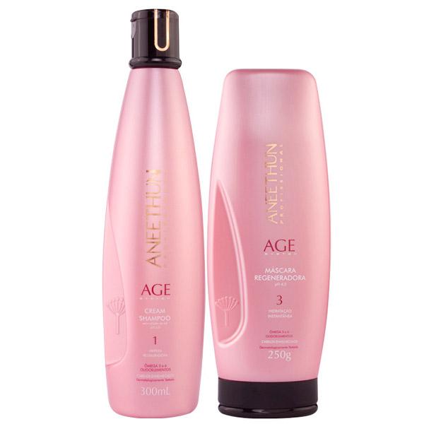 Aneethun Age Mascara Regenadora 250g e Shampoo Cream 300ml