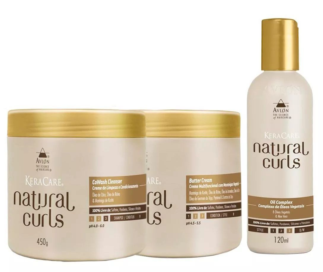 Avlon Kit Natural Curls CoWash E Butter Cream E Oil Complex