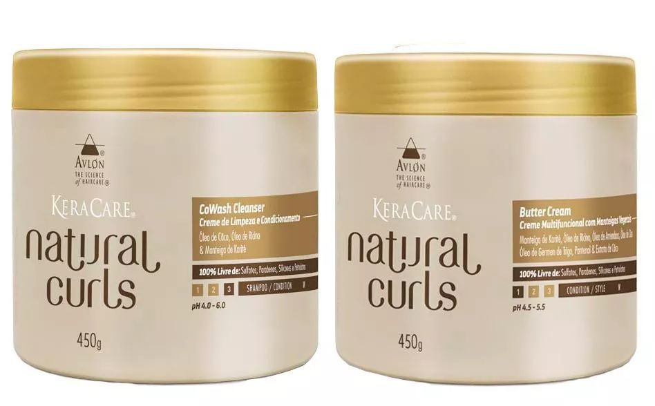 Avlon Natural Curls CoWash 450g e Butter Cream 450g