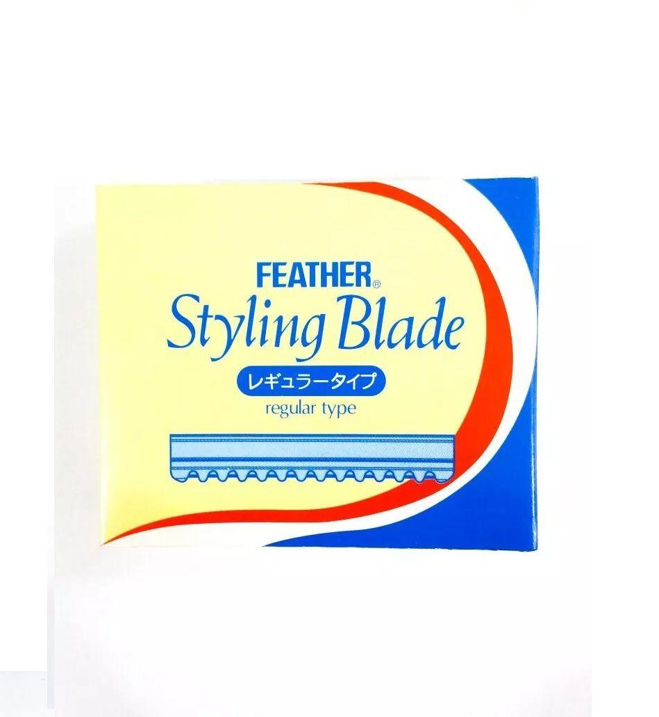 Caixa de Lâmina Feather Para Navalhete de Desfiar Cabelo