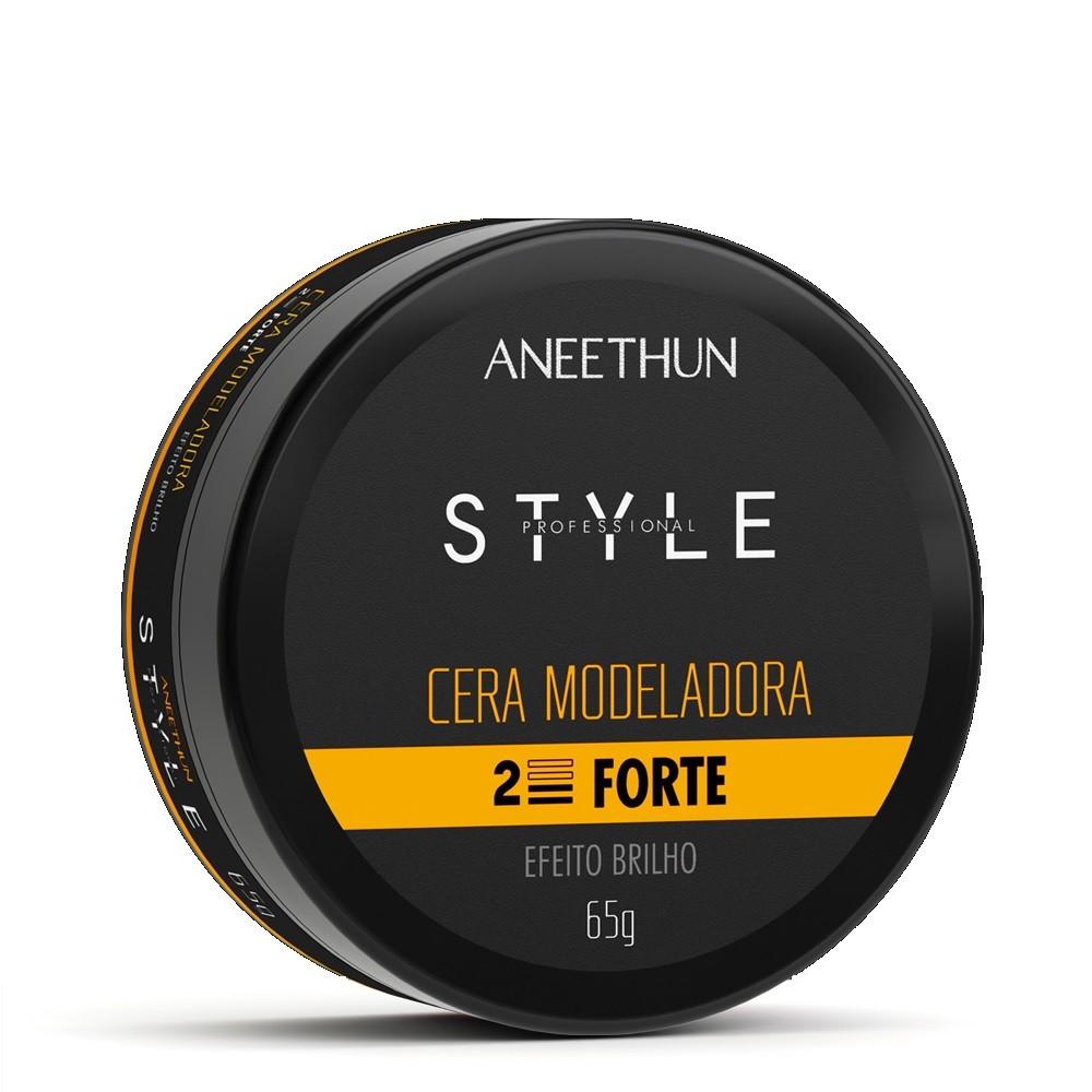 Cera Modeladora Forte Aneethun Efeito Brilho 65g