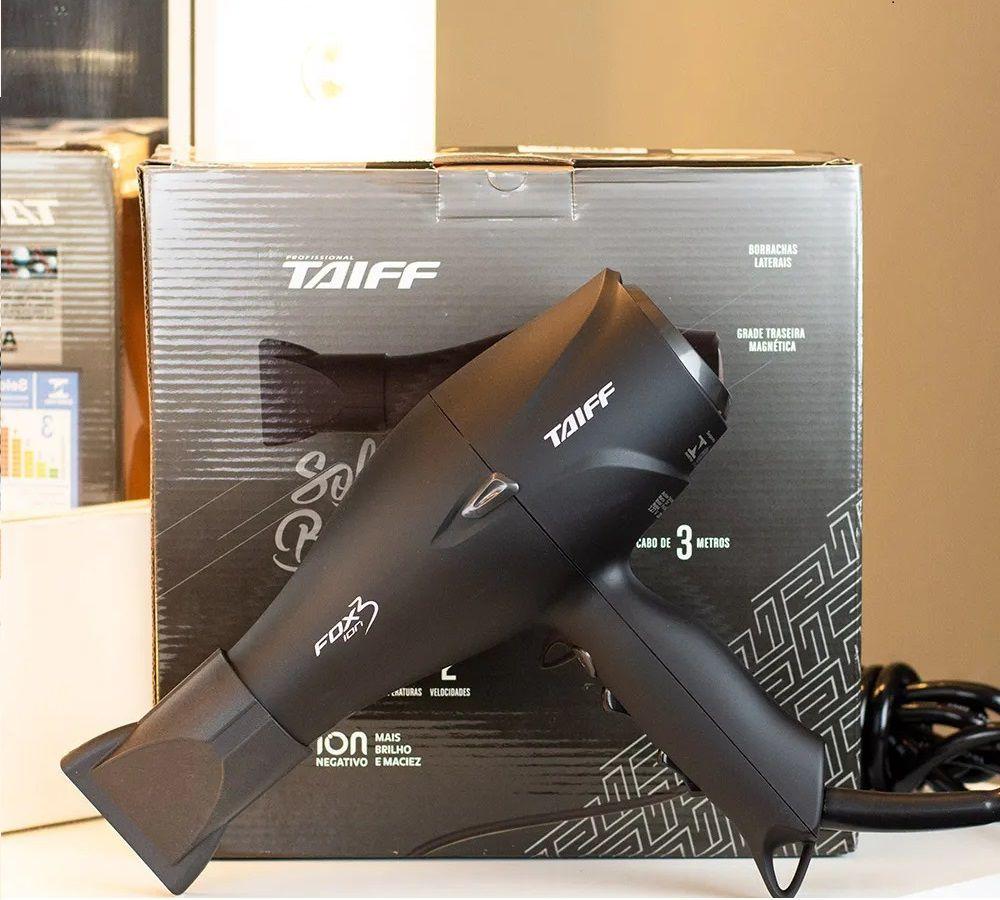 Secador Taiff Fox Ion 3 Black 220V