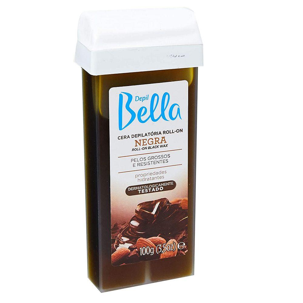 Depil Bella Refil Cera Depilatória Roll-on Negra 100g