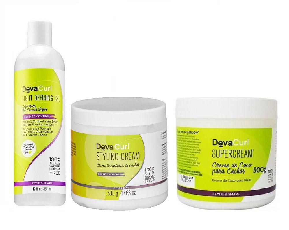 Deva Curl Angell 355ml Supercream 500g E Styling Cream 500g
