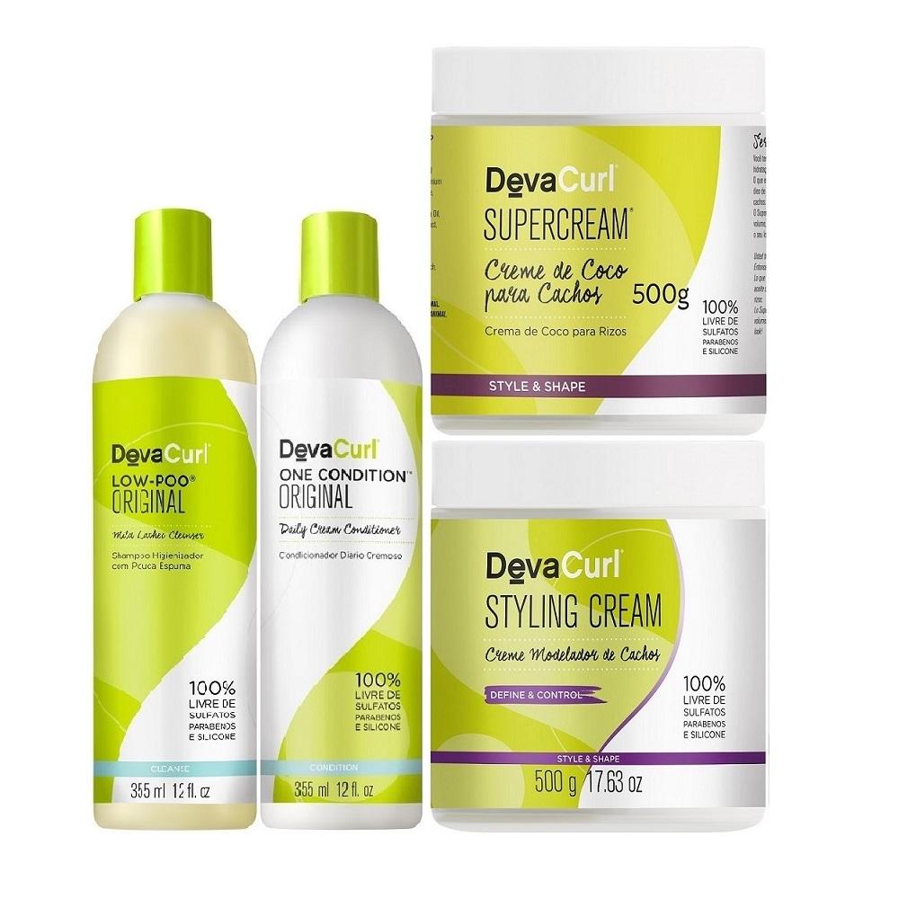 Deva Curl Concept Com Low Poo (4 Itens)