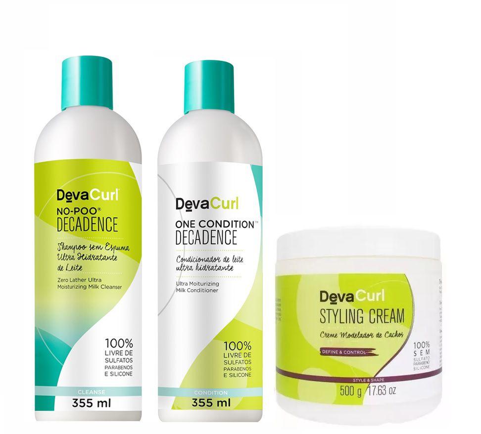 Deva Curl Decadence 2x355ml e Styling Cream 500g