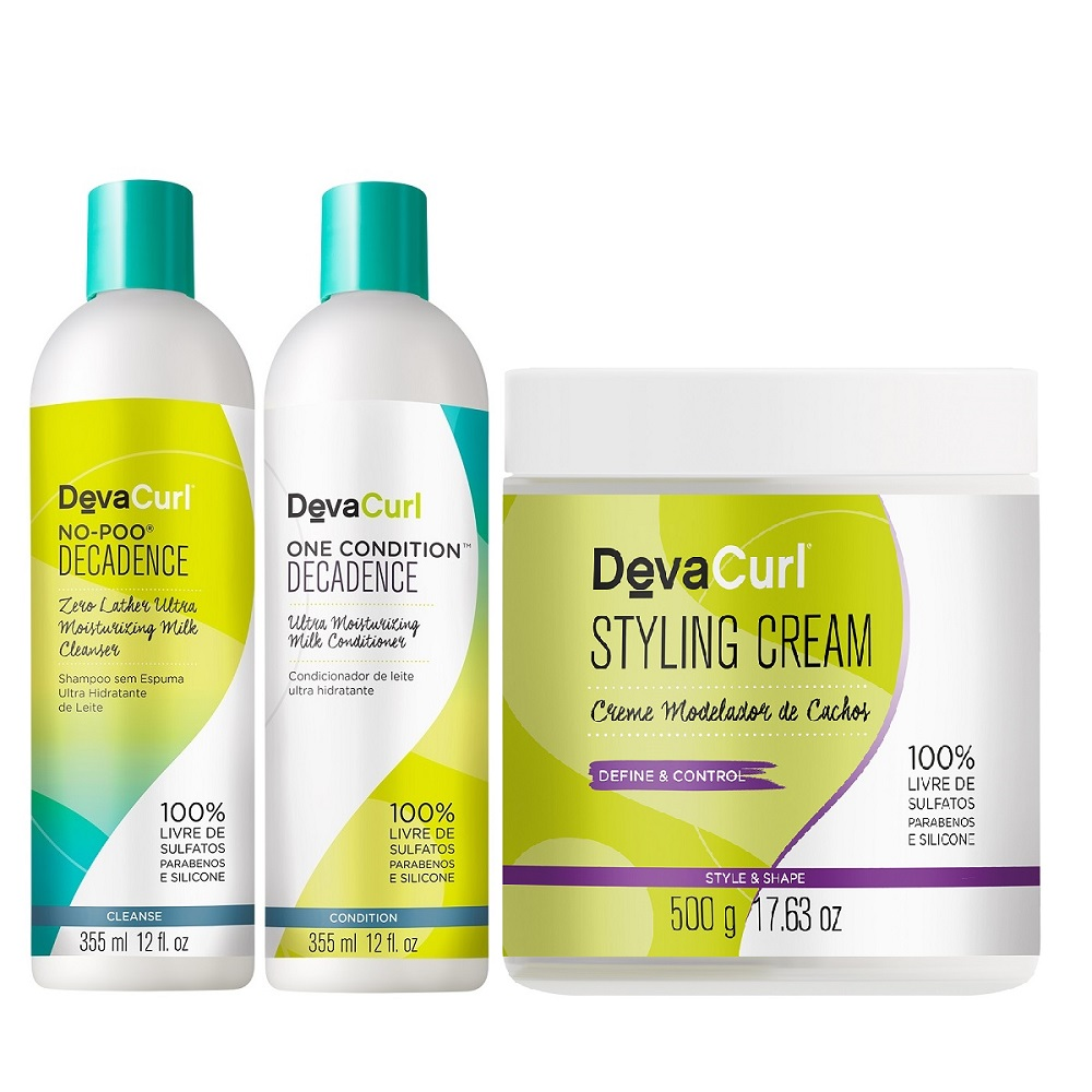 Deva Curl Decadence 2x355ml e Styling Cream 500g