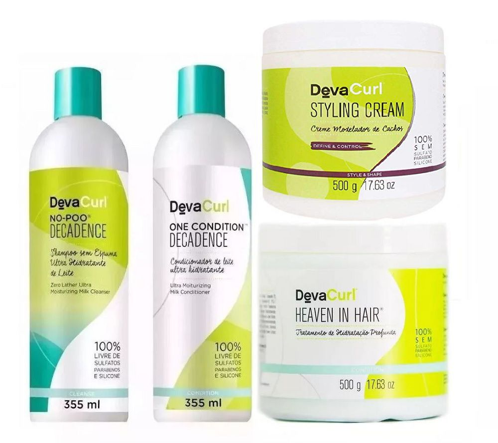 Deva Curl Decadence 2x355ml e Styling Cream e Heaven 2x500g