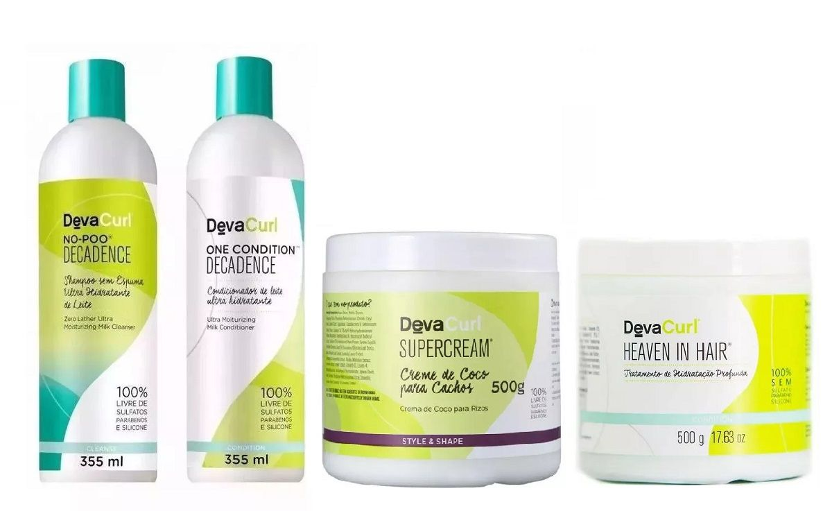 Deva Curl Decadence 2x355ml Heaven 500g e Supercream 500g