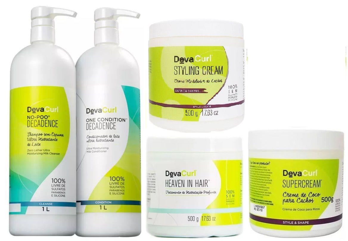 Deva Curl Decadence Especial Tratamento Cacheados (5 itens)