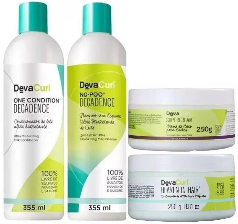 Deva Curl Decadence Home Care ( 4 Produtos )