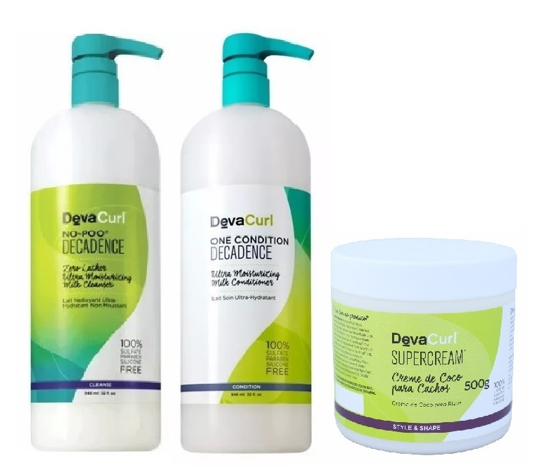 Deva Curl Decadence Now Poo e One Condition e Supercream