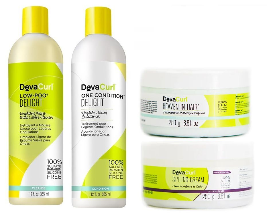 Deva Curl Delight 2x355ml e Stling Cream 250g e Heaven in hair 250g