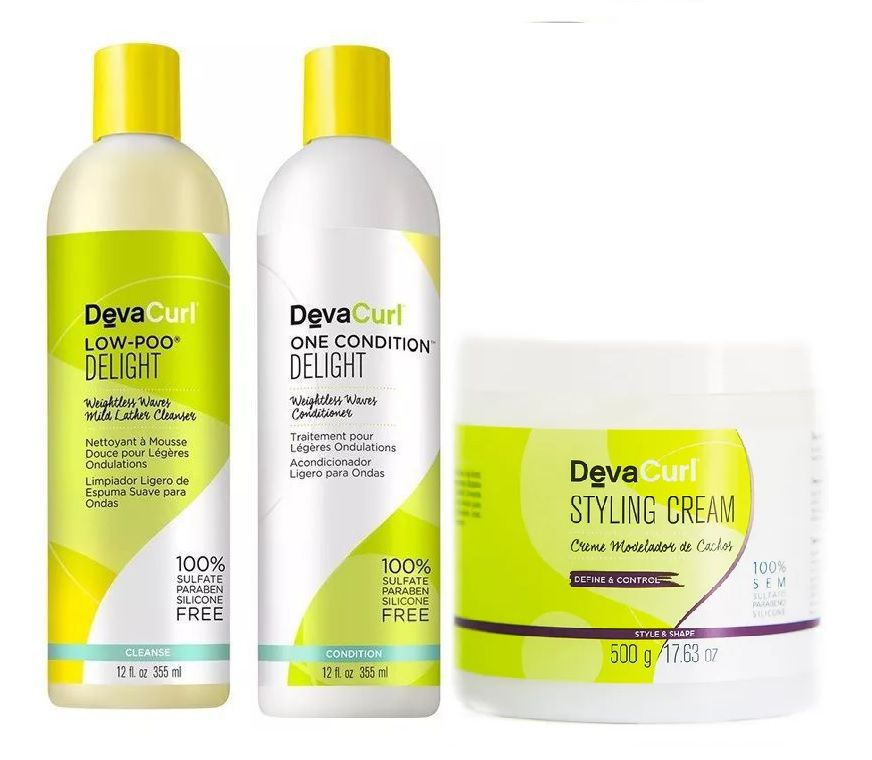 Deva Curl Delight Low Poo, One, 355ml Styling 500g