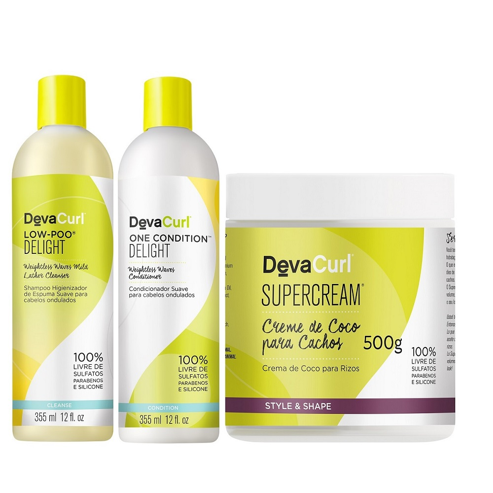 Deva Curl Delight Low Poo One Cond e SuperCream 500g