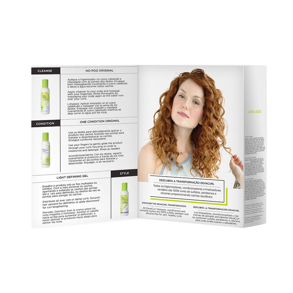 Deva Curl Kit 3 Produtos Home Care 120ml Cada