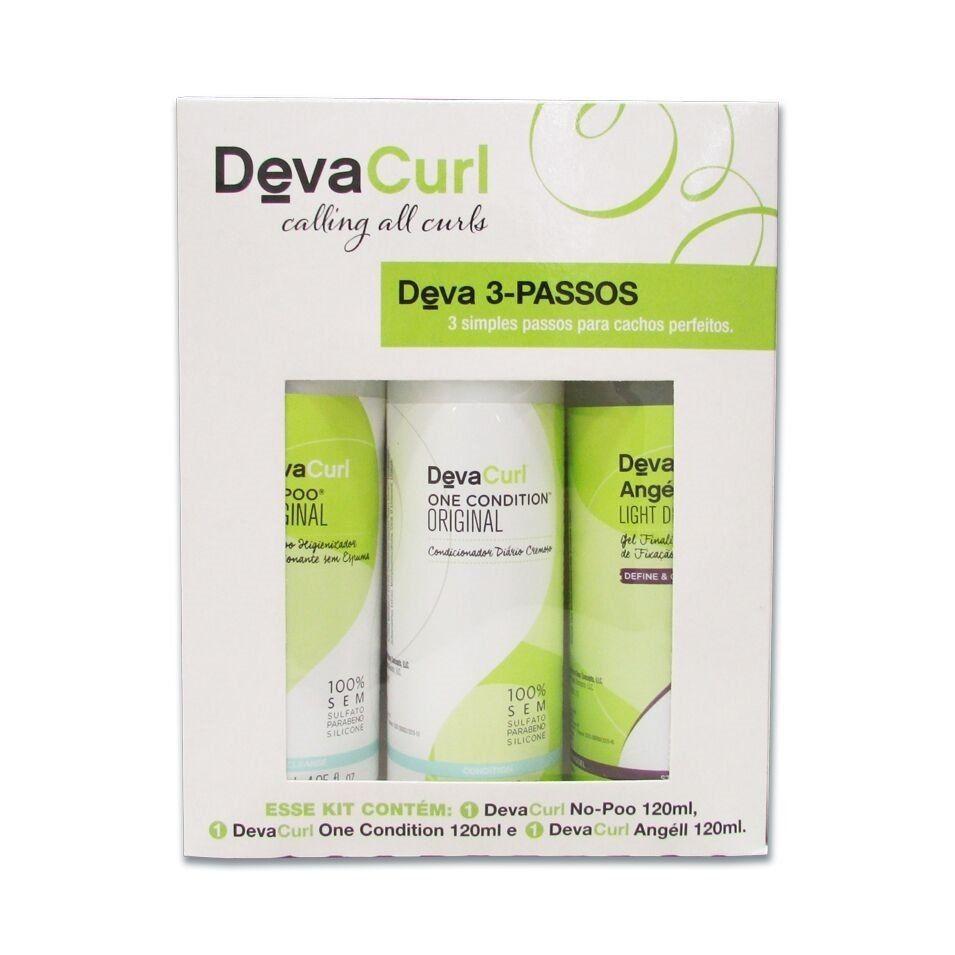 Deva Curl Kit 3 Produtos Home Care 120ml Cada