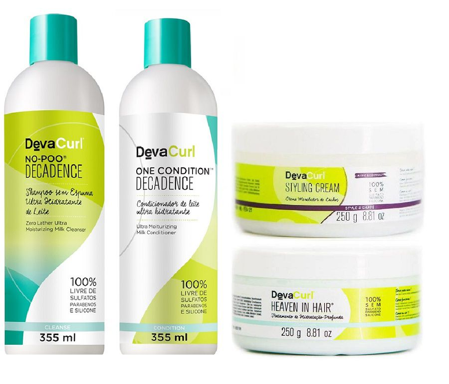 Deva Curl Kit Decadence e Styling Cream e Heave-in Hair