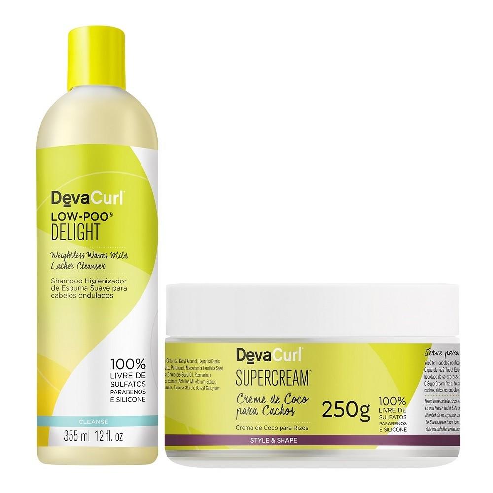 Deva Curl Low Poo Delight 355ml e Supercrem 250ml