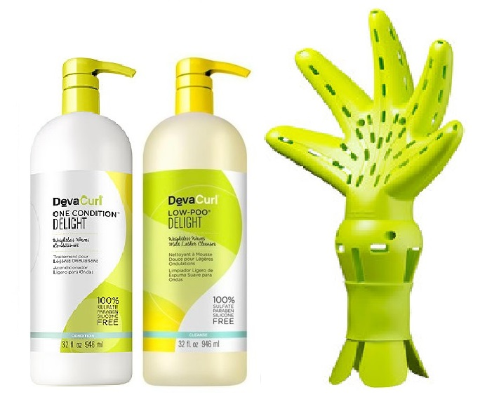 Deva Curl Low Poo e One Condition Delight e Deva Fuser