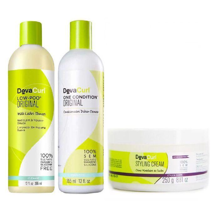 Deva Curl Low-poo One Condition E Styling Cream