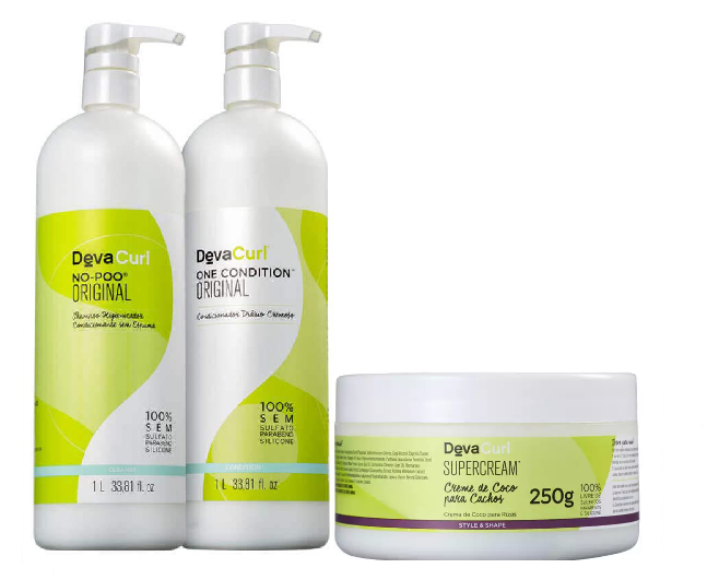 Deva Curl No Poo e On Condition 1000ml E Supercream 250g