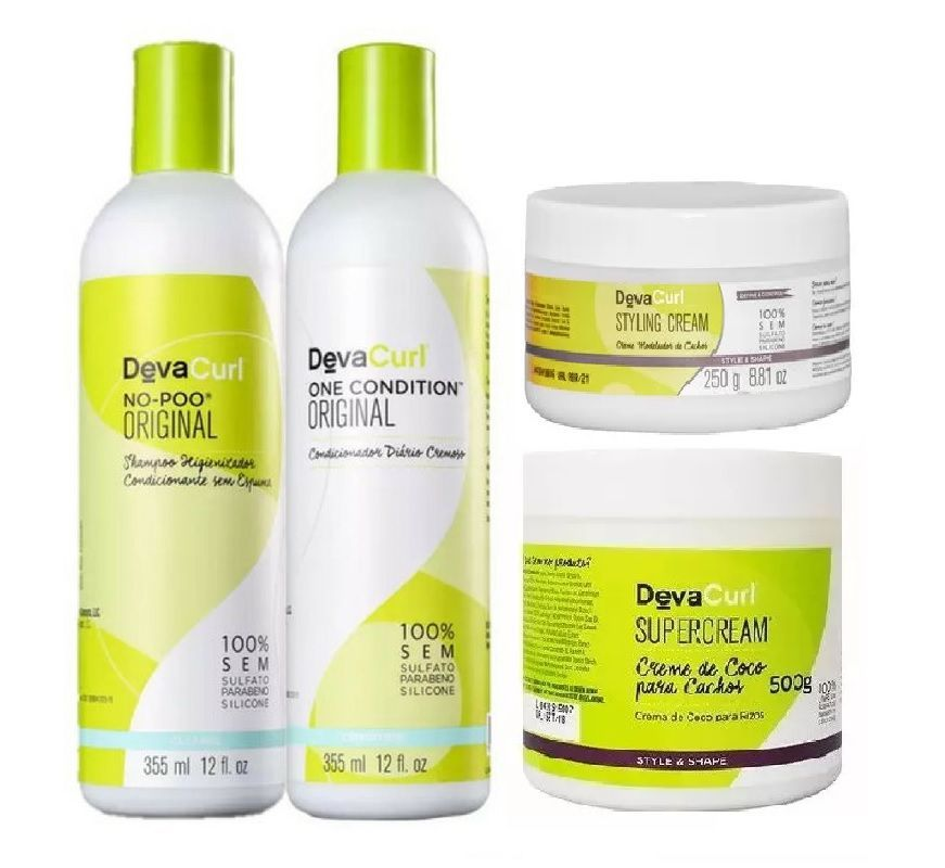 ef11beee0 Deva Curl No Poo e One Condition Original + Supercream e Styling Cream -  Empório do Cabeleireiro