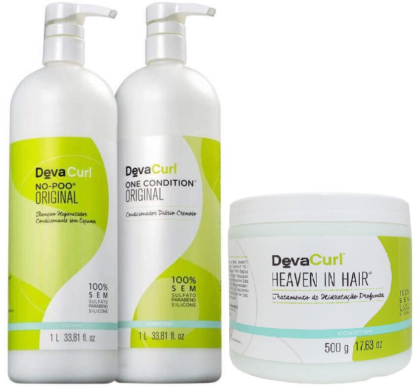 Deva Curl No Poo, One Condition 1000ml E Heaven In Hair 500g