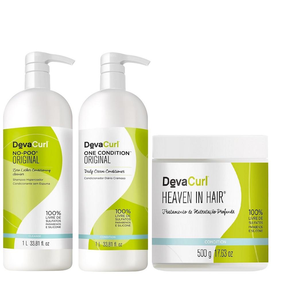 Deva Curl No Poo, One Condition 2x1000ml E Heaven In Hair 500g