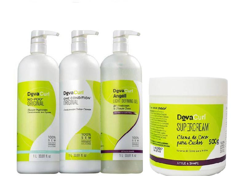 Deva Curl No Poo, One Condition, Angell E Super Cream 500g