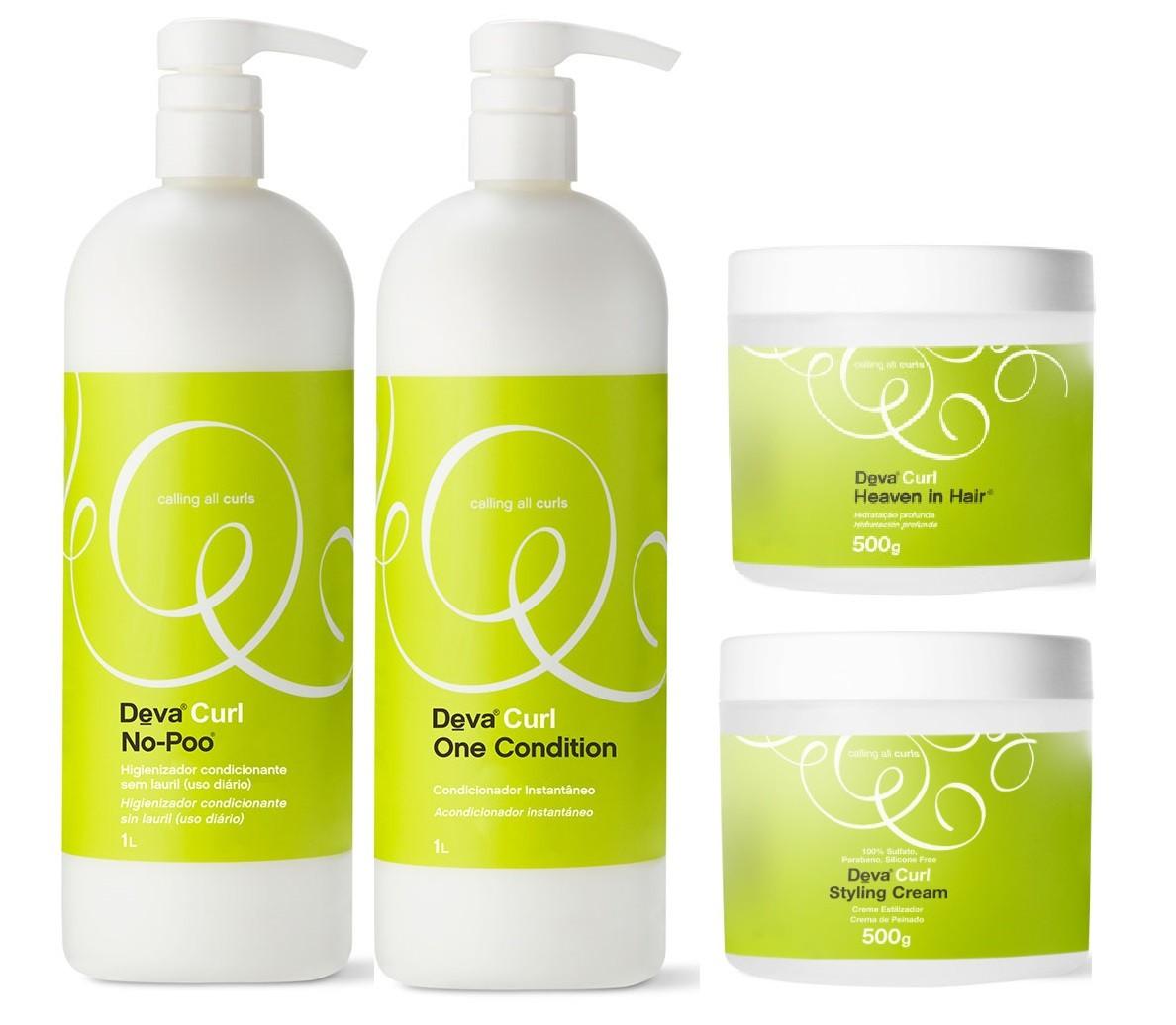 Deva Curl Original 2x1000, Styling Cream e Heaven Hair 500g