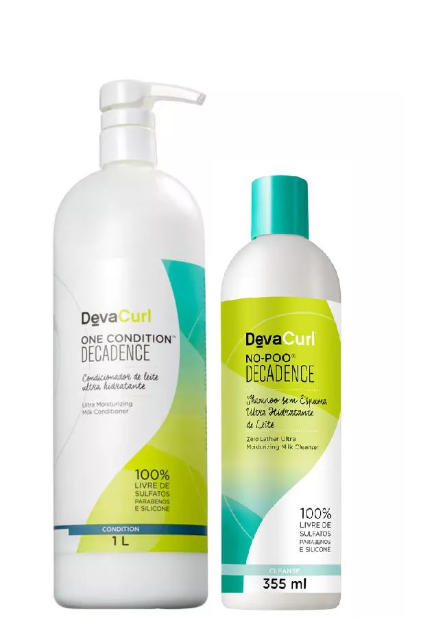 Deva Curl One Condition Decadence 1000ml e No Poo Deca 355ml
