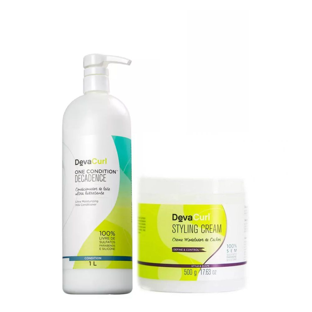 Deva Curl One Condition Decadence 1000ml e Styling Cream 500g
