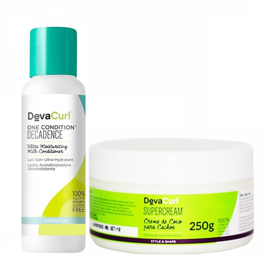 Deva curl One Condition Decadence 120ml e Supercream 250g