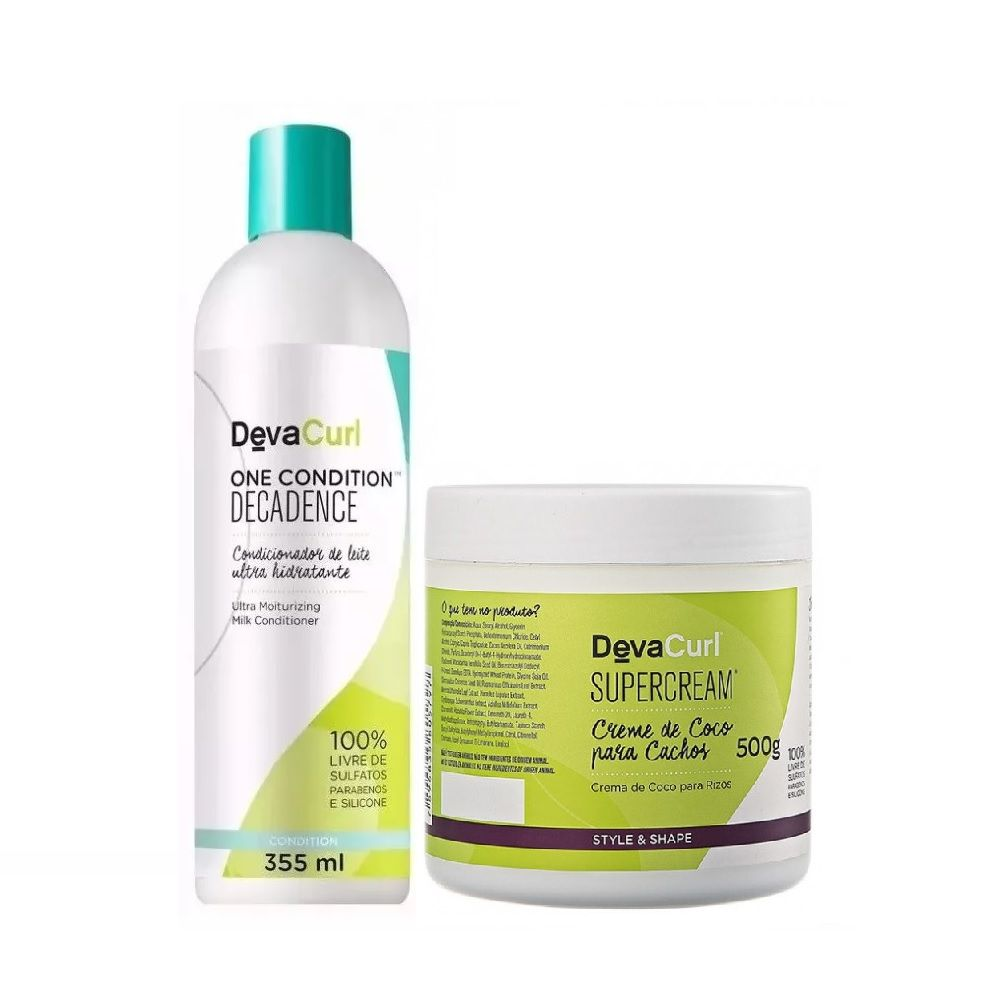 Deva Curl One Condition Decadence 355ml e Supercream 500g