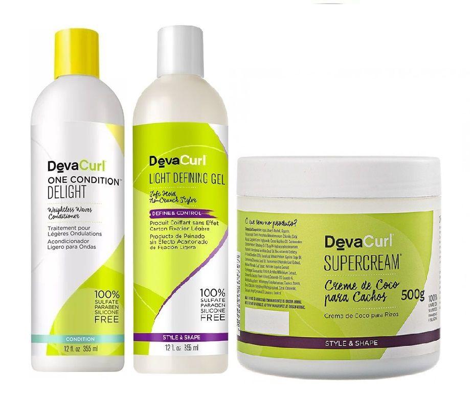 Deva Curl One Condition Delight e Angell 2x355ml e Supercream 500g