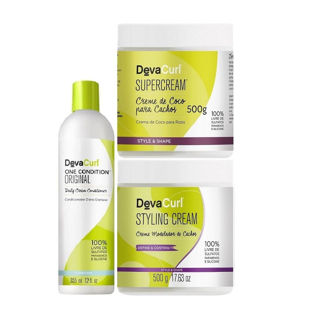 Deva Curl One Condition Original 355ml Super e Styling 2x500g