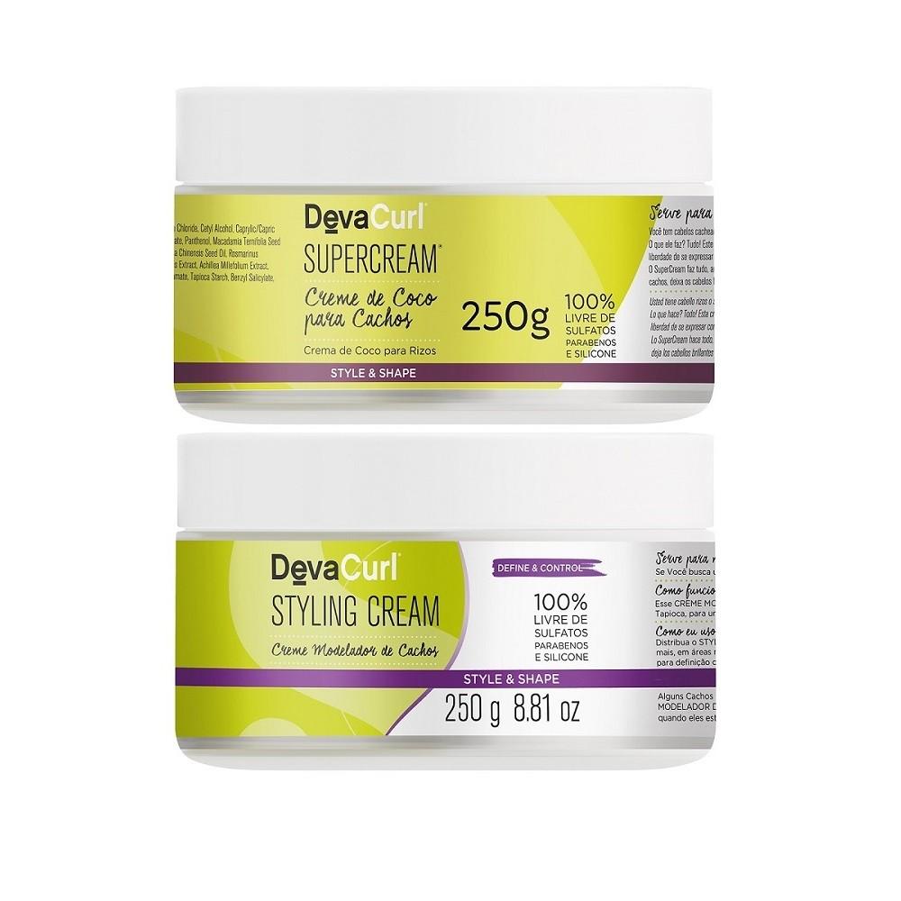 Deva Curl Styling Cream 250g e SuperCream 250g
