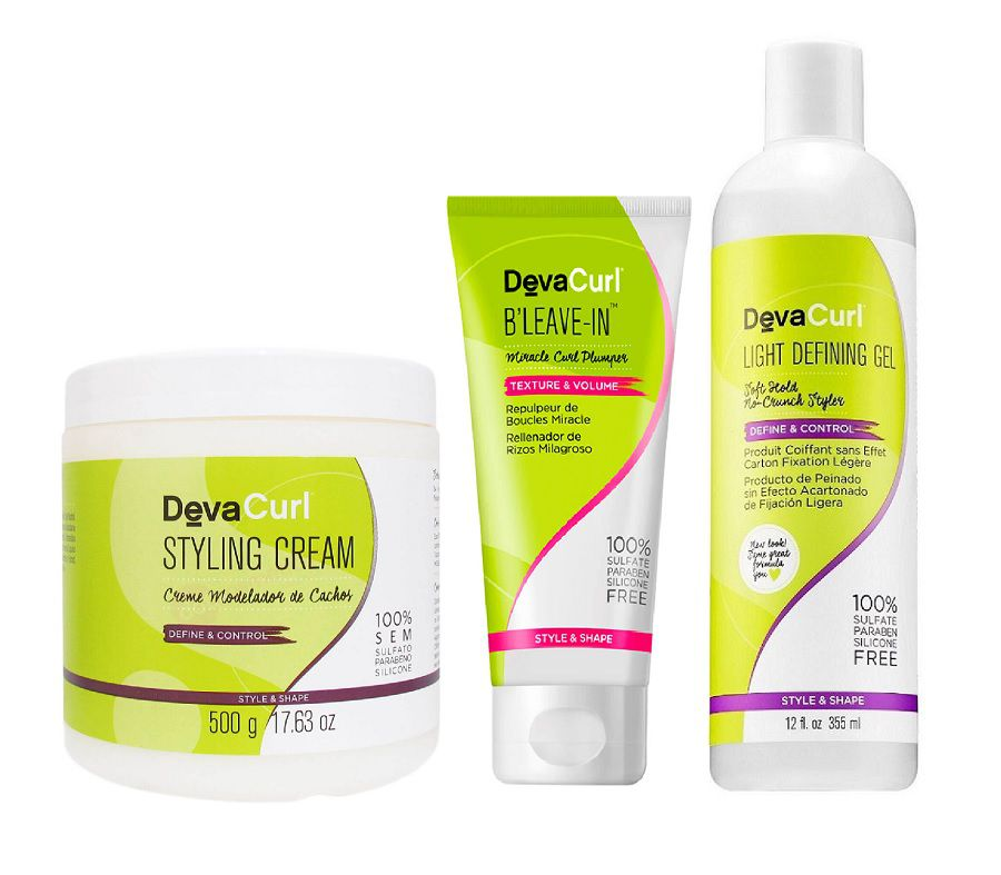 Deva Curl Styling Cream 500g Angell 355ml e BLeave-in 200ml